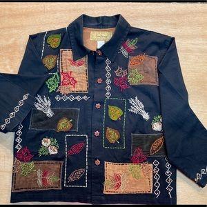 TANTRUMS brand Fall Appliqué Fall Harvest Jacket